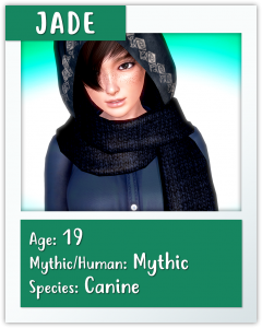 jade mythic manor character card